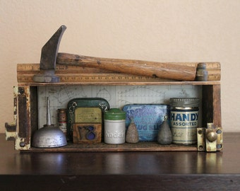 Found Object Assemblage - The Handyman's Shelf