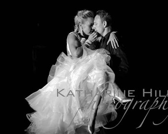 Natalie Lowe and Ian Waite Ballroom Dancers Black and White Print, Strictly Come Dancing, Strictly
