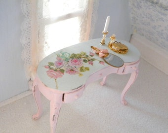 shabby chic miniature consolle