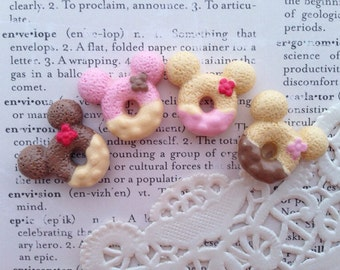 4 Tiny Sweet cupcake air dry clay