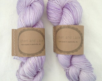 Amethyst ~ Lichen and Lace Hand Dyed Yarn