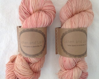 Faded Rose ~ Lichen and Lace Hand Dyed Yarn