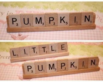Halloween Baby, Baby Shower, Pumpkin, Fall, Pumpkin Decoration, Fall Baby Shower, Little Pumpkin, Scrabble, Shower Decor, Fall Decor, Baby