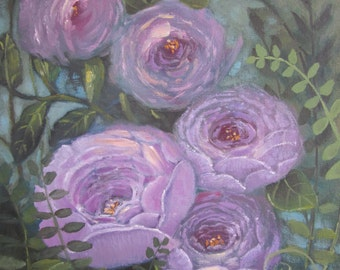 Roses, original oil painting, 11x14