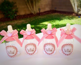 12 Little Princess Baby Shower Favors  Princess Baby Shower  Little  Princess Baby Shower