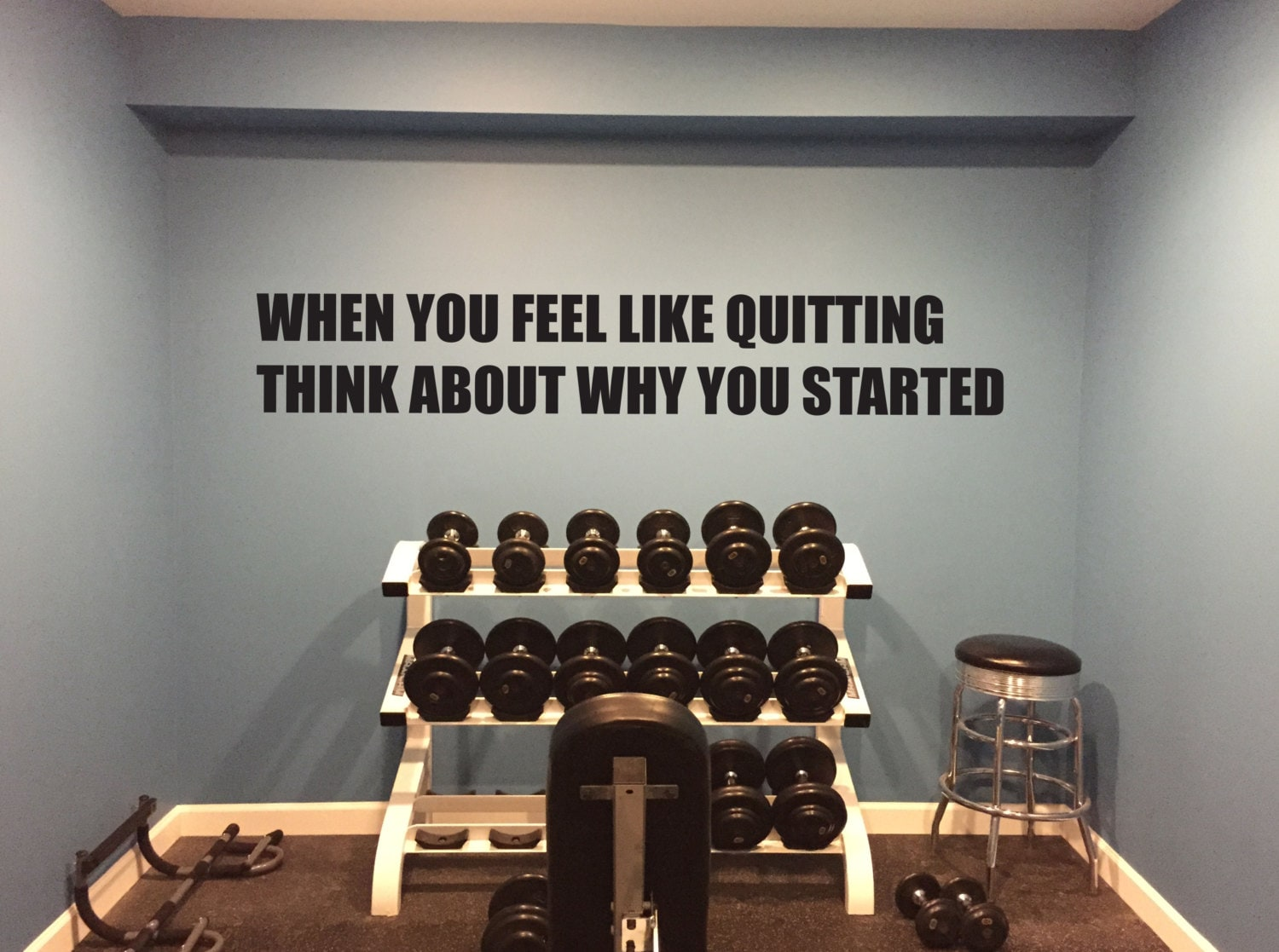 Motivational gym quote when you feel like quitting think