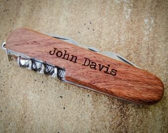 Personalized Knife, Custom Knife, Engraved Knife: Wedding Favor, Groom's Gift for Him, Stocking Stuffer, Father's Day, Groomsmen - GFT1