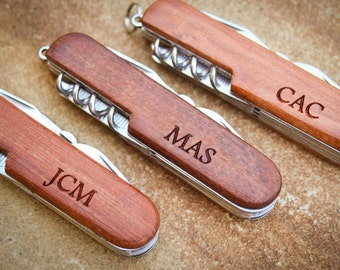 Custom Knife, Personalized Knife, Engraved Knife: Groom's Gift for Him, Stocking Stuffers, Father's Day, Groomsmen, Wedding Favor - GFT1