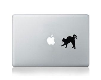 Cat Stalking Apple Vinyl Decal for Macbook (13/15) or Laptop