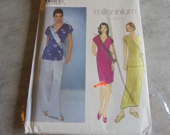 SIMPLICITY 8682 Sewing Pattern  Millenium Wrap Dress Top Tunic Skirt Sz 8-12 Uncut