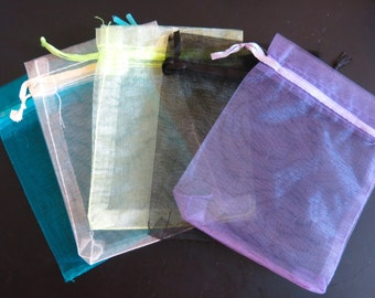 BULK! 100pc organza jewelry/wedding bags mixed colors (JC67)