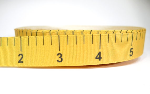 5 Yards Of 7/8 Inch Measuring Tape Grosgrain By