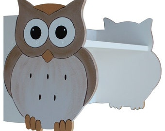 Woodland Owl Shelf - Owl and Hedgehog Nursery Shelf