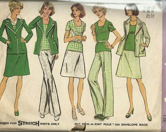 Simplicity 6235   Misses and Women's Shirt,Jacket,Skirt and Pants   C1974  Size 20