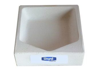 "Square Crucible 4-3/4"" Melting Casting Dish For Jewelry Gold Silver Scrap Wa 365-526"