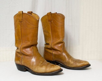 Nocona Leather Boots, Men's, 9.5D ,Brown,leather boots