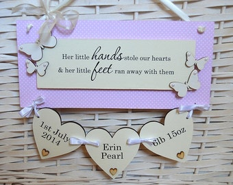 New Baby / Christening Wall Plaque
