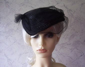 Jacoll Early Authentic  Vintage 50's Black Weave/Net Hat