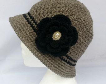 Crochet winter Flapper Hat