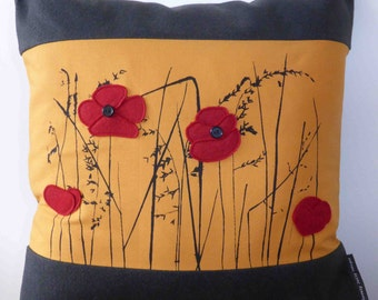 Poppy Screenprint Cushion