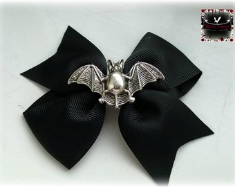 Gothic Bat hair bow