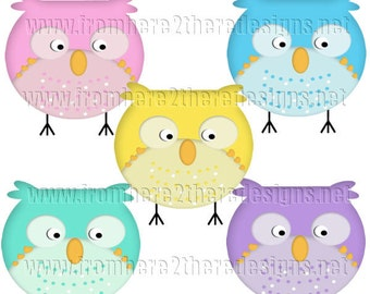 Owls Clipart, Birds, Scrapbooking, Candy Wrappers, Invitations