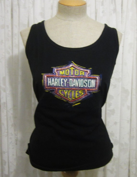 vintage harley davidson unisex black tank top kingman arizona