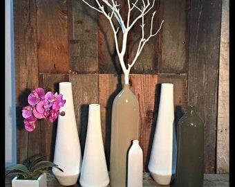 16'' Silk White Ceramic Vase