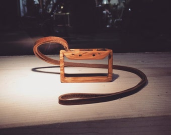 Audio tape minimal. An olivewood accessorie.
