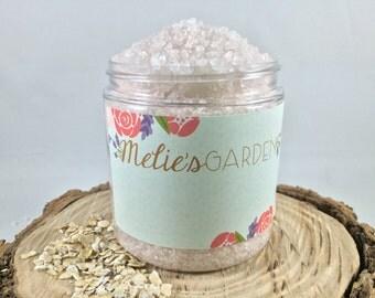 Oatmeal Milk and Honey Bath Salt 8 oz Dead Sea Salt Epsom Salt ...