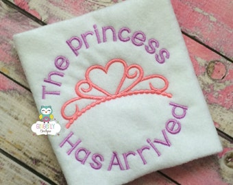 The Princess Has Arrived Shirt or Bodysuit, Baby shower gift, new baby gift, princess shirt