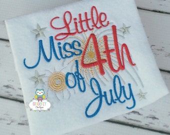 Little Miss 4th of July Patriotic or 4th of July Shirt or Bodysuit, Miss 4th of July, Little Miss Patriotic, Fireworks, 4th of July Parade