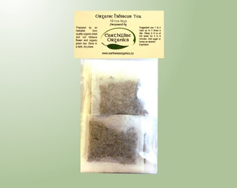 Hibiscus and Green Tea Herbalist Prepared From Certified Organic Herbs