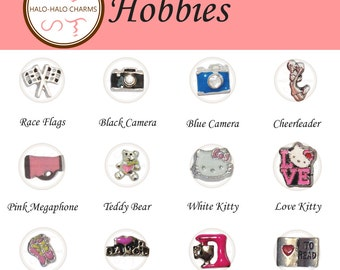 Hobbies Charm Collection for Floating Lockets