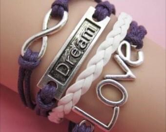 Infinity bracelet dream love  statement