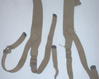 US Army M-1928 haversack straps, all-khaki