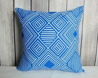 Cobalt Blue Pillow Covers. Royal Blue Pillows. Pillow Covers. Blue White Pillows. Accent Pillows