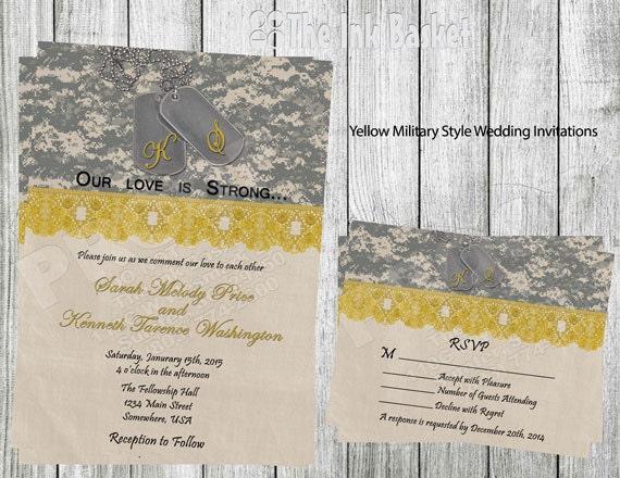 Army Wedding Invitations: Items Similar To Military Style Wedding Invitation