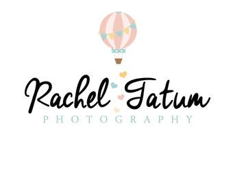 "Premade Photography Logo and Watermark ""Ballon Ride"" - Pick Your Design"