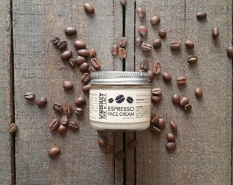 Espresso Face Cream - Coffee Skincare, Coffee Face Cream, Morning Face Cream with Fair Trade Organic Coffee, Mother's Day Gift, Gift for Mom