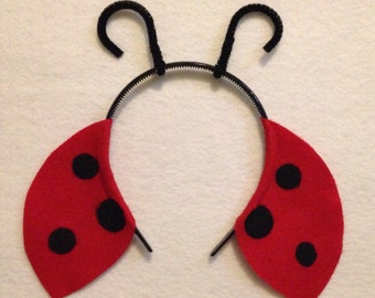 Ladybug Theme Headbands birthday party favors supplies costume hat lady bug antennae antenna ladybird adult child children baby babies kid