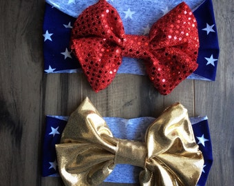 Patriotic Floppy Bow