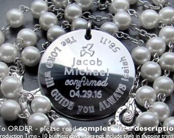 Baptism Boy Gift, Custom Personalized Godparents Gifts, Baptism, Confirmation Gift Boys, Custom Catholic Rosary