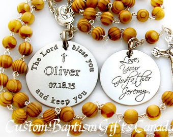 Baptism gift,  Christening gift, Baptism Rosary, First Rosary, Religious Baby Gift, Baby Boy Baptism, Boy Personalized Rosary, Christening