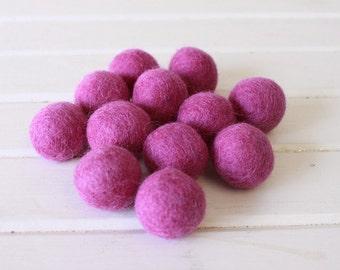 Berry Felt Balls 12 count