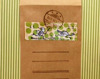Thanksgiving Brownie rubber stamp / Turkey stamp unmounted or EZ mounted ( = cling stamp ) (140603)
