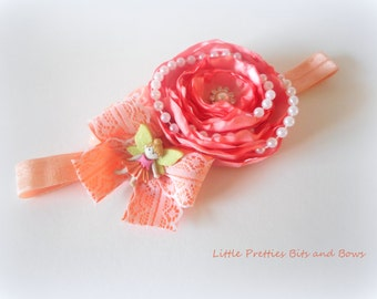 Fairy Flower Peach Headband
