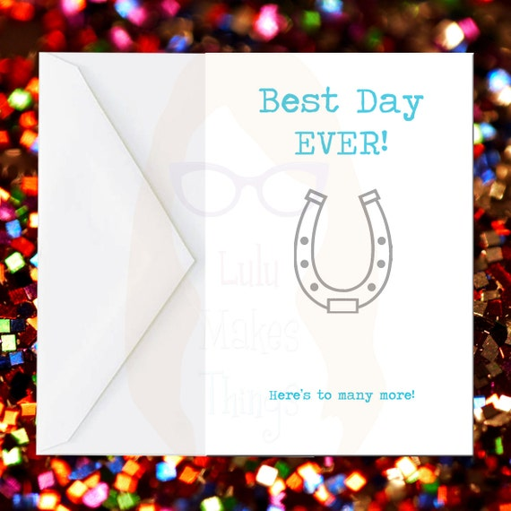 Best day ever funny wedding greeting card funny card for Best holiday cards ever