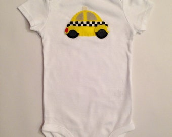 New York Taxi Baby Onesie or Toddler Shirt NY tourist gift - NYC