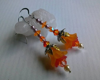 Summer Citrus Flower Earrings